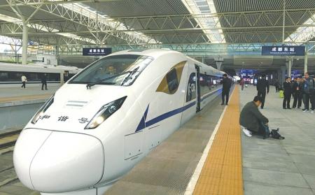 成都至西安乘高铁最快3小时25分钟29日起 每天开行33趟高铁动车